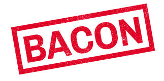 Bacon rubber stamp Royalty Free Stock Photos
