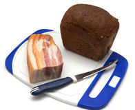 Bacon with rye bread Royalty Free Stock Photography