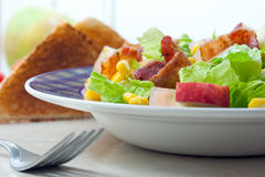 Bacon salad Stock Image