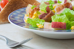 Bacon salad Stock Photo