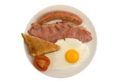 Bacon, salsicha, ovo, brinde Fotos de Stock