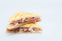 Bacon sandwich with white bread Stock Photo