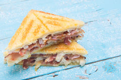 Bacon sandwich with white bread Stock Image