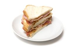 Bacon sandwiches Stock Images