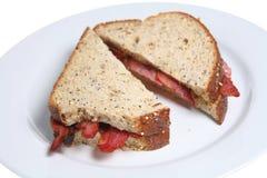 Bacon Sarnie Stock Photo