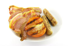 Bacon, Sausage and Tomato Royalty Free Stock Image