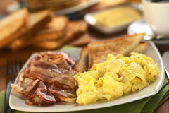 Bacon and Scrambled Eggs Stock Images