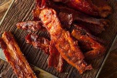 Bacon secco casalingo del barbecue a scatti fotografia stock libera da diritti