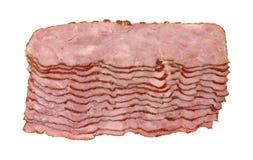 bacon skivar kalkonen Arkivbilder