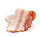 Bacon slice. On a white background Stock Image