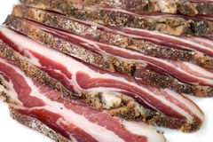 Bacon Slices Closeup Stock Images