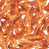 bacon som upprepar den seamless skivategelplattan Arkivbild