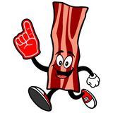Bacon Strip  Running with a Foam Finger Stock Photo