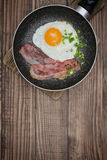 Bacon with sunny side up Royalty Free Stock Image