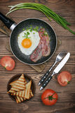 Bacon with sunny side up egg Stock Photo