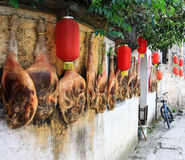 Bacon tradizionale di huizhou Fotografia Stock Libera da Diritti