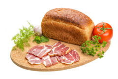 Bacon with vegetables Stock Image