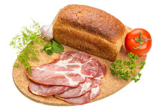 Bacon with vegetables Royalty Free Stock Images