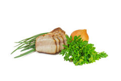 Bacon and verdure Royalty Free Stock Image