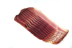 Bacon on white background Royalty Free Stock Images