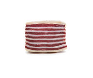 Bacon On White Stock Images