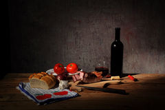 Bacon and Wine Royalty Free Stock Image