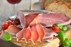Bacon and wine Royalty Free Stock Images
