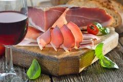 Bacon and wine Stock Photos