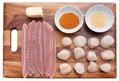 Bacon wrap scallops Royalty Free Stock Image
