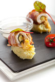 Bacon Wrapped Chicken Royalty Free Stock Photography