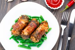 Bacon wrapped cutlet Royalty Free Stock Image