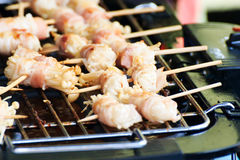 Bacon Wrapped Enoki Mushrooms Stock Photography