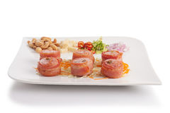 Bacon wrapped with fermented Thai pork Stock Photography
