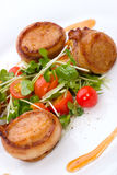 Bacon-Wrapped Ginger Soy Scallops Royalty Free Stock Images
