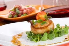 Bacon-Wrapped Ginger Soy Scallops Royalty Free Stock Image