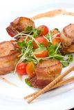 Bacon-Wrapped Ginger Soy Scallops Stock Image