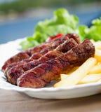 Bacon Wrapped Kebab Stock Photo