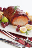 Bacon-wrapped Pork Loin with Fruits Stock Photography