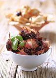 Bacon wrapped prunes Royalty Free Stock Images