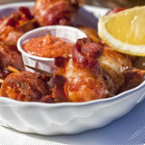 Bacon Wrapped Scallops Stock Images