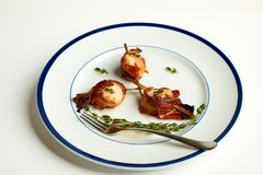 Bacon Wrapped Scallops stock photography
