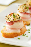 Bacon-wrapped scallops Royalty Free Stock Photography