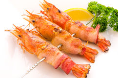 Bacon Wrapped Shrimp Stock Images