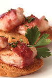 Bacon Wrapped Shrimp Crostini Royalty Free Stock Image