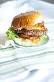 Baconcheeseburger Royalty-vrije Stock Foto