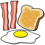 baconäggrostat bröd Royaltyfria Bilder