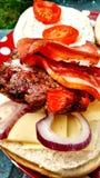 Baconhamburger Stock Foto's