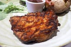 Baconlapje vlees Royalty-vrije Stock Afbeelding