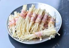 Baconpaddestoel Stock Foto