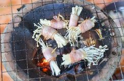 Baconpaddestoel Stock Foto's